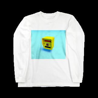 BJ来ての押しボタン式信号機(おまちください) Long sleeve T-shirts