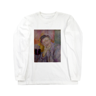 Art Baseのムンク / 1911 / Self-Portrait with Hand under Cheek / Edvard Munch Long sleeve T-shirts