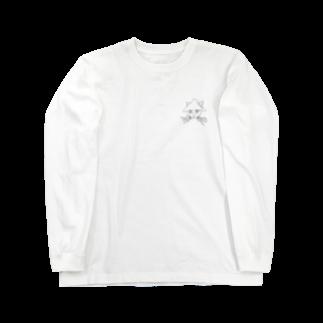 うまみのイカネコ(背景色なし) Long sleeve T-shirts