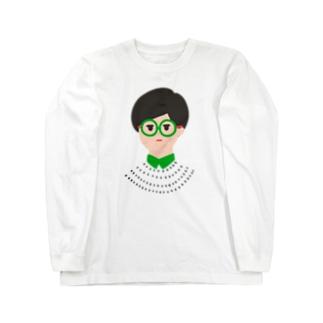 眼鏡メガネ -GLASSES- Long sleeve T-shirts