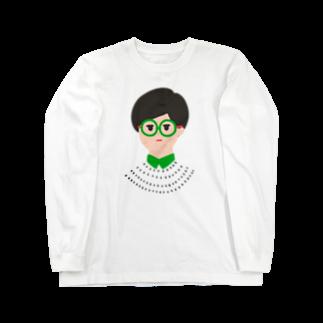 ムラムラの眼鏡メガネ -GLASSES- Long sleeve T-shirts