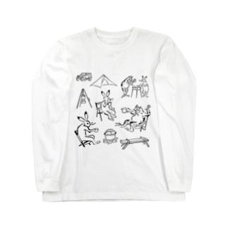 鳥獣戯画現代版 アウトドア Long Sleeve T-Shirt