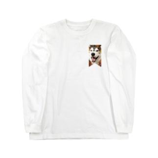 ハスキー タペストリー Long sleeve T-shirts