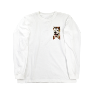 Dream Dog World 【夢犬】のハスキー タペストリー Long sleeve T-shirts