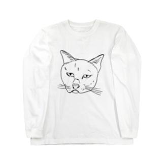 かわいいねこ(透過黒線) Long sleeve T-shirts