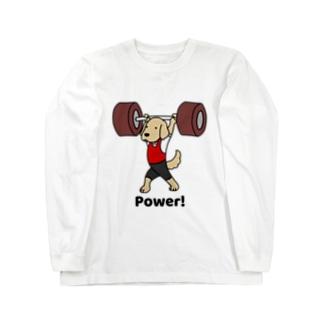重量挙げ2(前面) Long sleeve T-shirts