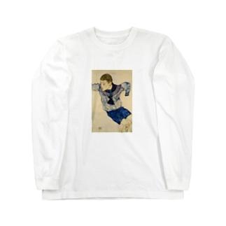 エゴン・シーレ / 1913 / Boy in a Sailor Suit / Egon Schiele Long sleeve T-shirts
