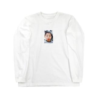 鼻水を垂れ流し憤る幼児T Long sleeve T-shirts
