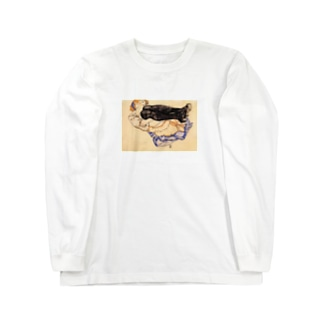 エゴン・シーレ / 1912 / Woman with Blue Stockings / Egon Schiele Long sleeve T-shirts