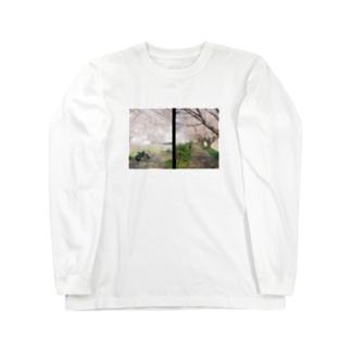 桜の下で Long sleeve T-shirts