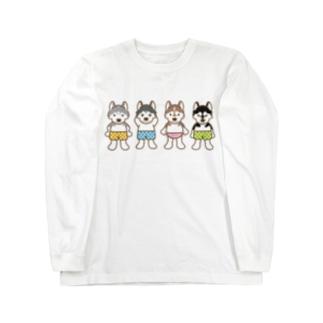おパンツハスキー Long sleeve T-shirts