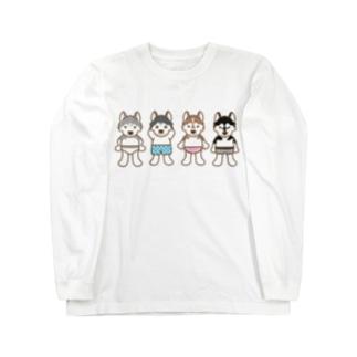 おパンツハスキー2 Long sleeve T-shirts