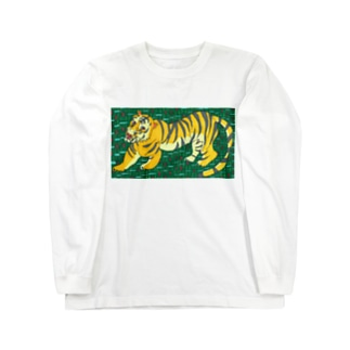 包茎タイガーたかしウーソー図。 Long sleeve T-shirts