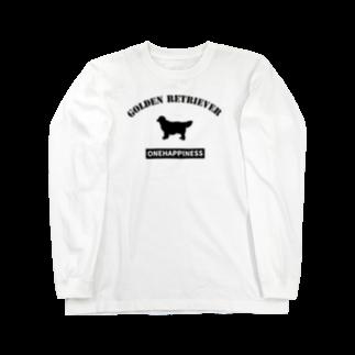onehappinessのゴールデンレトリバー Long sleeve T-shirts