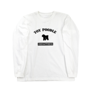onehappinessのトイプードル Long sleeve T-shirts