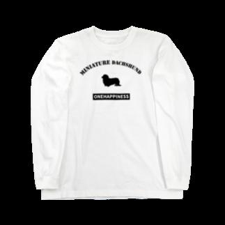 onehappinessのミニチュアダックス Long sleeve T-shirts