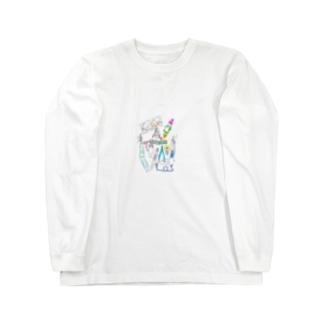 眼鏡っ娘宇宙旅行 Long sleeve T-shirts