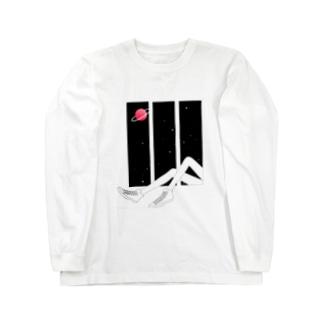 SPACE WINDOW Long sleeve T-shirts