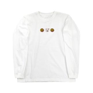 すこし下のアングルからのでいと何らかのまめ 整列 Long sleeve T-shirts