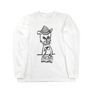 おじさまネコ(珈琲) Long sleeve T-shirts