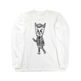 おじさまネコ(リーマン) Long sleeve T-shirts