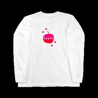 reddreamのApple Long sleeve T-shirts