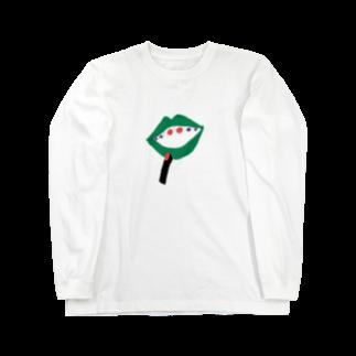 みあしろ。のくち、めだま。 Long sleeve T-shirts