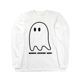 OBAKE BEHIND YOU Long sleeve T-shirts