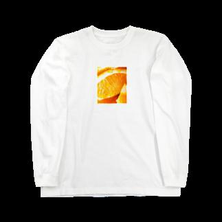 ししとう屋さんのオランゲ Long sleeve T-shirts