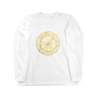 夢を守る蝶 Long sleeve T-shirts