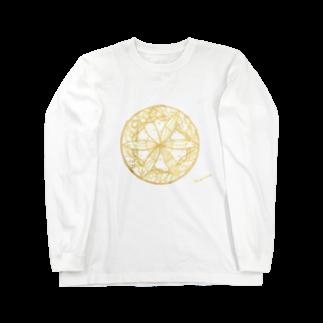 Cielo-azul-de-Mariaの夢を守る蝶 Long sleeve T-shirts