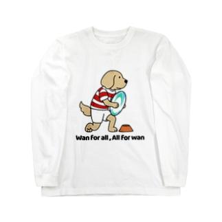 ラグビー2(前面) Long sleeve T-shirts