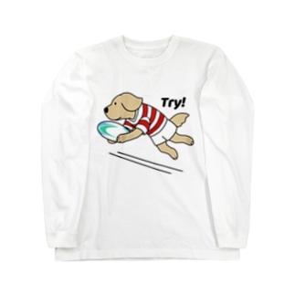 ラグビー1(前面) Long sleeve T-shirts
