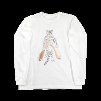 TAKUMの抱きネコ Long sleeve T-shirts