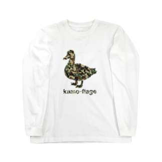 gemgemshopの鴨フラージュ Long sleeve T-shirts