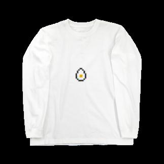 カットボスのゆで卵 Long sleeve T-shirts
