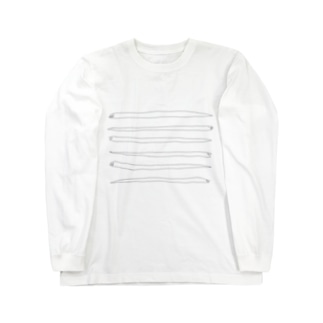 並ぶヘビ Long sleeve T-shirts