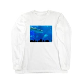 ジンベイザメの写真 Long sleeve T-shirts