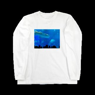 kknkakのジンベイザメの写真 Long sleeve T-shirts