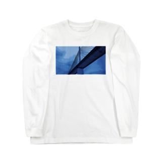 Bridge blue Long sleeve T-shirts