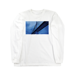 Fahrenheitの Bridge blue Long sleeve T-shirts