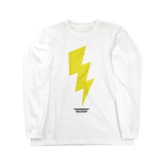 highvoltagewearsのthunderbolt 白ベース Long sleeve T-shirts