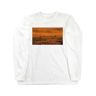 Rock orange Long sleeve T-shirts