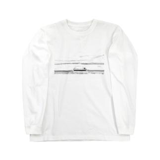 Ship  Black and white Long sleeve T-shirts