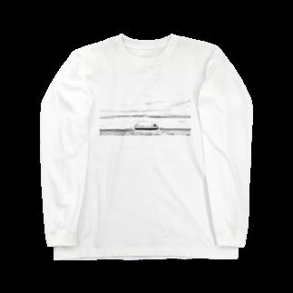 FahrenheitのShip  Black and white Long sleeve T-shirts