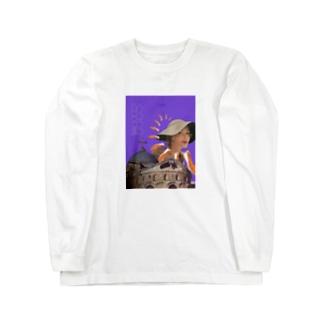 侵略サーモン Long sleeve T-shirts