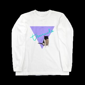 保護猫活動家すみパンさん家への支援グッズ!のNo.17 夢かわバットにゃん♪ Long sleeve T-shirts