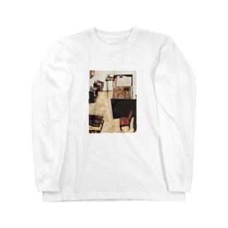 エゴン・シーレ / 1911 /Schiele's Room in Neulengbach / Egon Schiele Long sleeve T-shirts