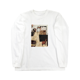 Art Baseのエゴン・シーレ / 1911 /Schiele's Room in Neulengbach / Egon Schiele Long sleeve T-shirts