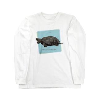 黒化クサガメさん Long sleeve T-shirts